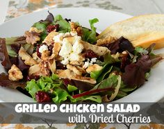 Can't wait to make this!      It's Overflowing | Tips to Simplfy, Beautify, Delight: Grilled Chicken Salad with Dried Cherries {Recipe}