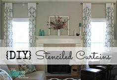diy stencil curtains revere pewter walls