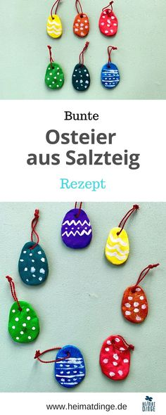 Easter: making sweet Easter eggs from salt dough -- Ostern: Süße Ostereier aus Salzteig basteln – Easter: making sweet Easter eggs from salt dough – - Easy Easter Crafts, Easter Gift, Diy For Kids, Crafts For Kids, Making Easter Eggs, Diy Easter Decorations, Salt Dough, Diy Gifts, Diy And Crafts