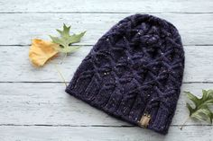 Purple Cable Knit Hat  Winter Women's Hat  Chunky by ussuriknits