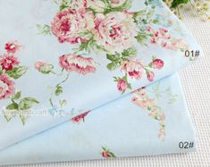 Flower Fabric/ Cotton Fabric/ Shabby chic/ Flower Cotton/