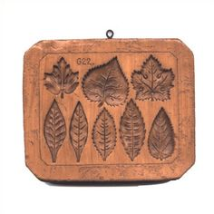 cookie molds made from 500 year old carvings   http://houseonthehill.net/autumn/eight-leaves/