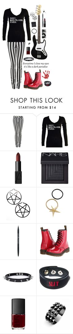 """""""Every Time I Close My Eyes"""" by picky-picky ❤ liked on Polyvore featuring American Standard, NARS Cosmetics, Logitech, Kill Star, Pluie, PurMinerals, Dr. Martens, Trend Cool, Funk Plus and Waterford"""