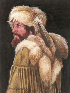 """""""Wyoming Trapper"""" by Michael Gnatek. Original watercolor available at the R. Michelson Galleries."""