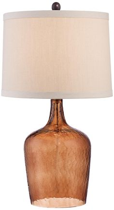 Eastport Amber Textured Glass Table Lamp - $99.99