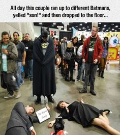 These practical jokers pretending to be Batman's parents nailed it!...| #Funny #Batman #Memes