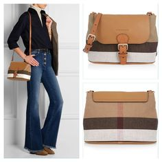 #BURBERRY SHOES & ACCESSORIES Striped canvas and textured-leather shoulder bag Contact Number ( Telegram or Whatsapp) : 0912 515 4683 Or +1 (313) 407- 1076