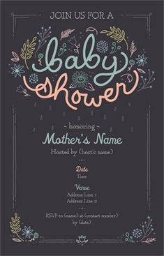 Baby Shower Birth Annoucements