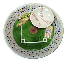 Estadio-de-beisbol-de-ceramica-Chip-Dip-Decorativo-Recipiente-Plato