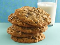 Cinnamon-Raisin-Oatmeal Cookies -- this oatmeal cookie boasts the addition of high-fiber bran cereal.