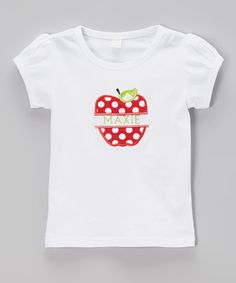 Look at this White Apple Personalized Tee - Infant, Toddler