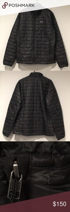 Patagonia Nano Puff Jacket Excellent Condition Small Cut In Collar Black L (Men's) Patagonia Jackets & Coats Puffers