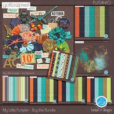 My Little Pumpkin - Buy the Digital Scrapbook Bundle at Gotta Pixel. www.gottapixel.net/