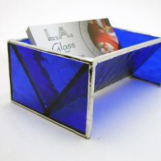 Stained+Glass+Business+Card+Holder++Cobalt+Blue+by+LAGlass+on+Etsy,+$25.00