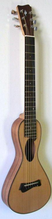 "Toni De Stefano~ ""Lecce"" - a very skinny guitar --- https://www.pinterest.com/lardyfatboy/"