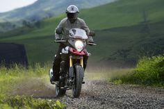 The 2014 Suzuki V-Strom 1000 adventure bike. http://suzukibulletin.co.uk/suzuki-unveil-v-strom-1000/