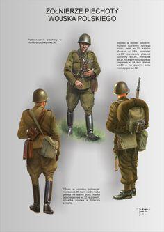 Military Diorama, Military Art, Poland Ww2, Interwar Period, Warsaw Pact, Ww2 Uniforms, World War One, History Photos, Armed Forces