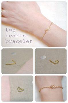 DIY Two Hearts Bracelet
