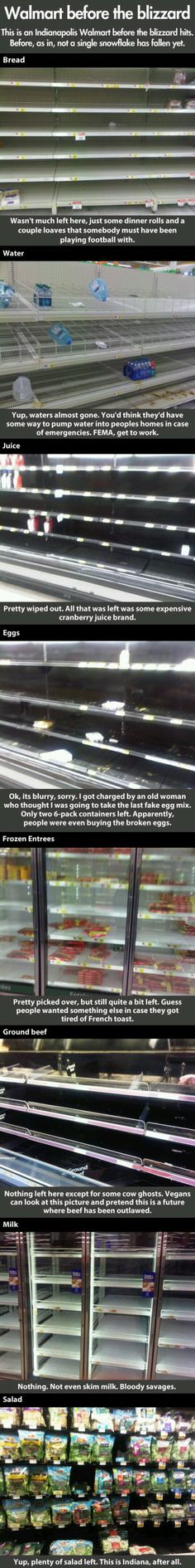 The Horrors Of A Store Before A Blizzard « Funny « ImgLuLz – Funny Pics and More