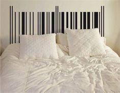 66 ideas diy headboard black washi tape for 2019 Washi Tape Headboard, Washi Tape Wall, Masking Tape, Headboard Decal, Black Headboard, Cama Queen Size, Queen Size Bedding, Bedroom Murals, Bedroom Decor