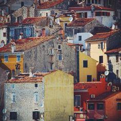 #rovinj #croatia #travel #holiday #coast #architecture #yellow