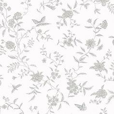 Tredje stora bilden av tapetern Stola grå
