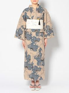 水金地火木土天冥海  竺仙  奥州小紋の浴衣  葡萄 yukata