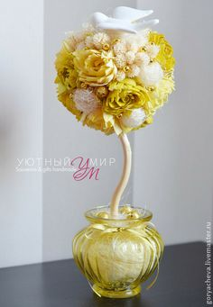 "Топиарий ""Там лилии цветут..."". Handmade."