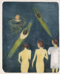 Edvard Munch - Boys Bathing (Aquatint), 1896