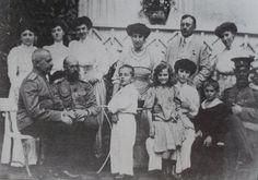 1909. Matilda Kshesinskaya with the Grand Duke Sergei Mikhailovich and Andrey Vladimirovich