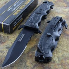 Tac-force Spring Assisted Glass Breaker Open Folding Black Rescue Pocket Knife -- Check out the image by visiting the link.