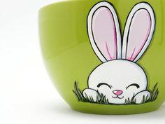 mug with cute white bunny
