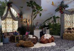 Tropical themed kids play room. Goldthorpe & Edwards, Ltd.