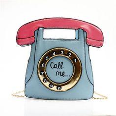 2017 phone shape bag funny bag women's leather handbags telephone shaped brand designer cute bag mini crossbody bags personality
