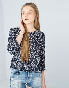 BSK shirt pleated hem - NEW COLLECTION - Bershka United Kingdom
