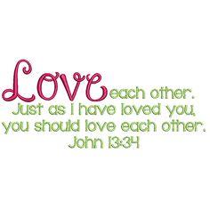 Love Free Bible Verse Machine Embroidery Design