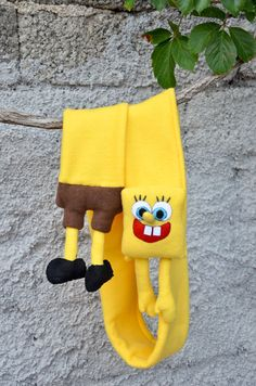 Fleece scarf for kids with character spongebob made by NukeMapu