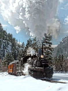 Dashing Through the Snow.  Durango & Silverton Narrow Guage Railway.  Runs between Durango and Silverton, CO.  Been on int numerous times in the summer and fall, but never in the winter...they only go halfway to Silverton and turn around.  It would be beautiful.