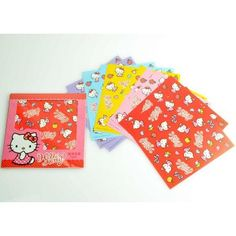 Hello Kitty Color Origami Folding Paper 2 Sets Total 20 sheets Polka Dot