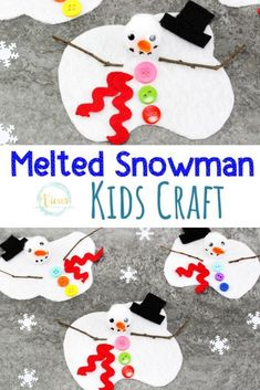 Melted Snowman Winter Craft and Busy Bag This melted snowman can be assembled as a winter craft for kids, or used like a busy bag. So many fun ways for kids to play and create. Craft Projects For Kids, Winter Kids, Crafts For Kids To Make, Christmas Crafts For Kids, Holiday Crafts, Activities For Kids, Kids Winter Crafts, Kids Crafts, Winter Crafts For Preschoolers