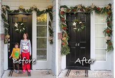 How to Make Fake Garlands Look Fuller and More Realistic (For Free!) Diy Christmas Urns, Christmas Staircase, Diy Christmas Garland, Christmas Hacks, Diy Garland, Christmas Door, Outdoor Christmas, All Things Christmas, Christmas Holidays