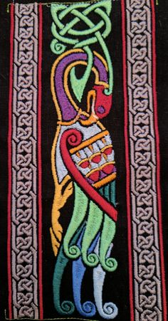 Celtic Bird  Repeatable Boarder by MarqsEmbroidery on Etsy
