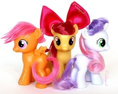 Cutie mark crusaders! Just got them! :) Although I CAN'T FIGURE OUT HOW TO DO SWEETIE BELLE!!!!!