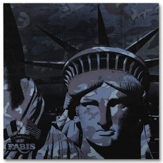 Andy Warhol (American, 1928-1987), Statue of Liberty, 1986. Synthetic polymer and silkscreen ink on canvas, 72 x 72 in.