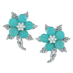 Siman Tu Ornate Turquoise Flower Earrings | Earrings | Jewelry | Jewelry & Accessories | SOPHIE'S CLOSET®