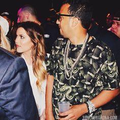 14 June 2014. Khloe Kardashian and French Montana Arrive by Yacht to La Marina NYC for His Show. #kardashian #kardashians #jenner #paparazzi
