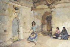 William Russell Flint - The Girl with the Load Stick, Ste Gemme, Gascony
