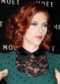 Scarlett Johanson Pretty Skin With Red Hair Au Design Pixel Hot Hair Colors, Hair Color Auburn, Auburn Hair, Red Hair Color, Chic Hairstyles, Pretty Hairstyles, Layered Hairstyles, Latest Hairstyles, Scarlett Johansson Red Hair