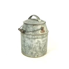 Galvanized Milk Can, Cream Can with Bail Handle, Farmhouse Decor by OldRedHenVintage on Etsy