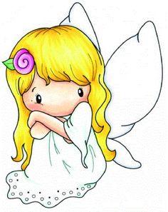 "C.C. Designs Swiss Pixie """"Fairy Abigail"""" Rubber Stamp"